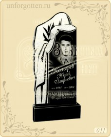 Памятник из гранита вертикальный №011- скорбящая мать