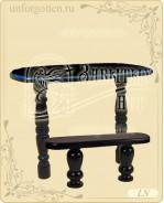 Литьевой мрамор,Стол + лавка №LN-001